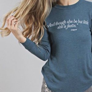 Wildfox Little & Fierce Teal Girlfriend Thermal